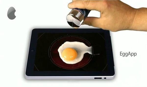 ไอเดียหลุดโลก นำ iPad  มาทอดไข่