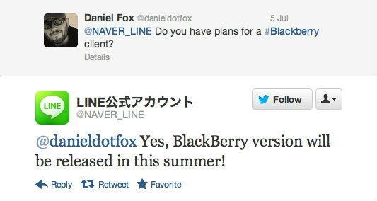 เตรียมพบกับ LINE บน BlackBerry เร็วๆ นี้ (LINE for BlackBerry)