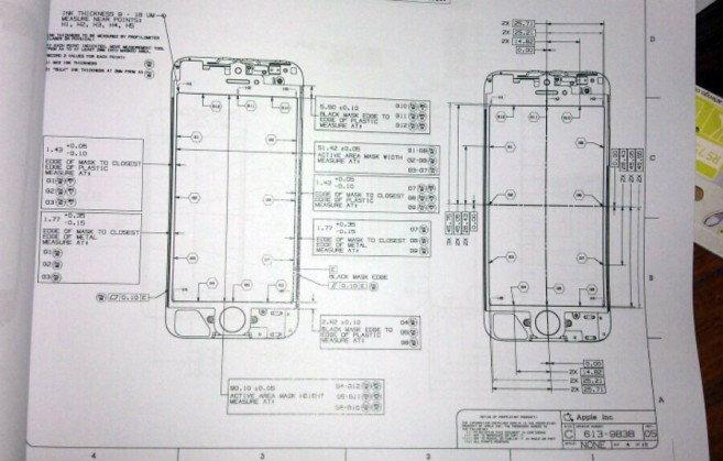 หลุด!! พิมพ์เขียวหน้าจอ iPhone 5