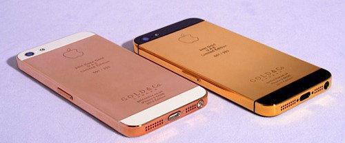 รายแรกของโลกสร้าง iPhone 5 ด้วยทองคำ 24kt