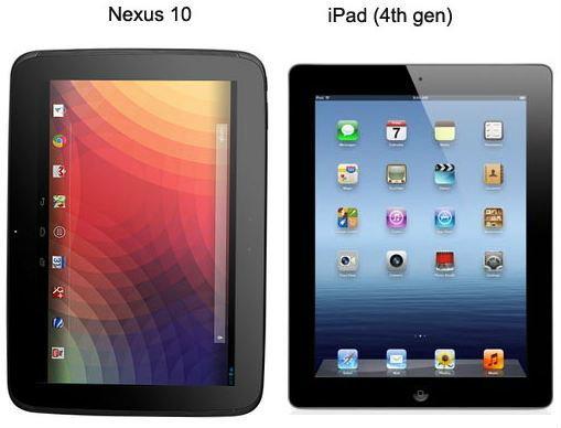 iPad 4 กับ Nexus 10 ใครเจ๋งกว่ากัน?