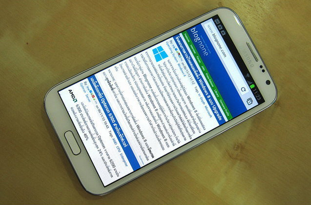 รีวิว Samsung Galaxy Note II
