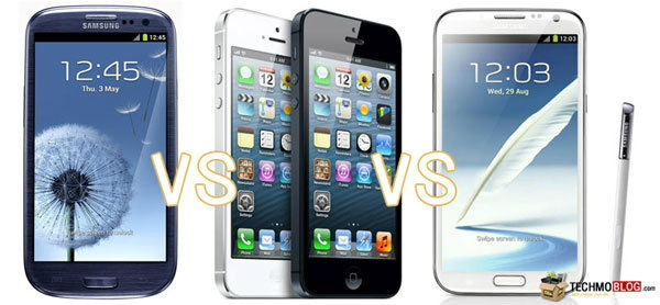 เปรียบเทียบ ไอโฟน 5  กับสมาร์ทโฟน 2 รุ่นเด่น