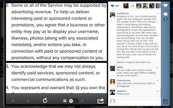 Instagram ปรับเงื่อนไขการใช้งานใหม่ ส่งข้อมูลผู้ใช้ให้ Facebook, เตรียมรับแผนโฆษณา