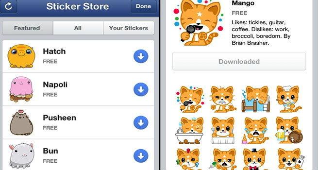 เฟสบุ๊คเวอร์ชั่นล่าสุดมี Stickerให้ใช้แล้ว