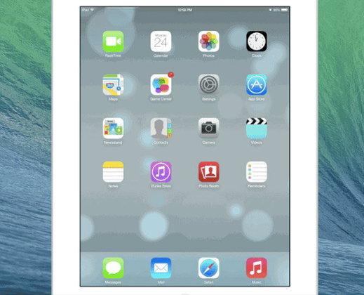 ชมกันชัดๆ หน้าตาของ iOS 7 บน iPad