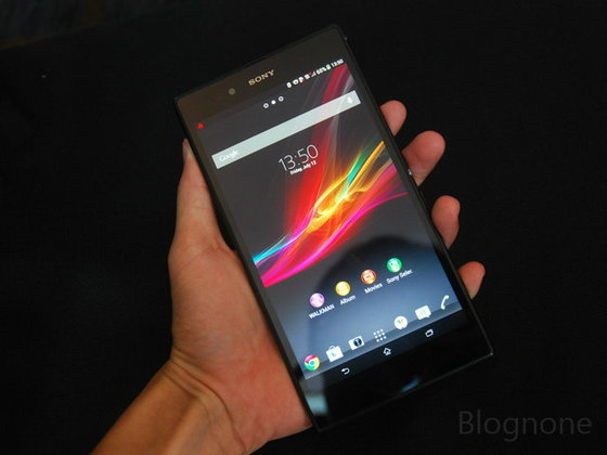 ลองจับ Xperia Z Ultra สมาร์ทโฟนจอยักษ์ 6.4 นิ้ว ใหญ่ที่สุดจากโซนี่