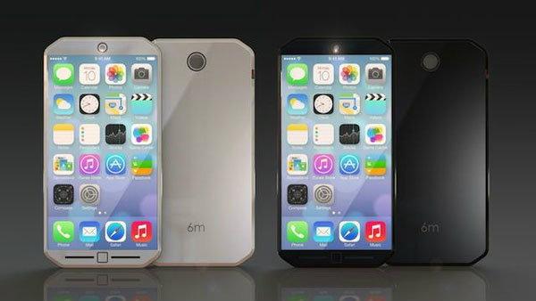 เผยภาพคอนเซปท์ iPhone 6 ตัวเครื่องขอบตัด และปุ่ม Home แบบสัมผัส