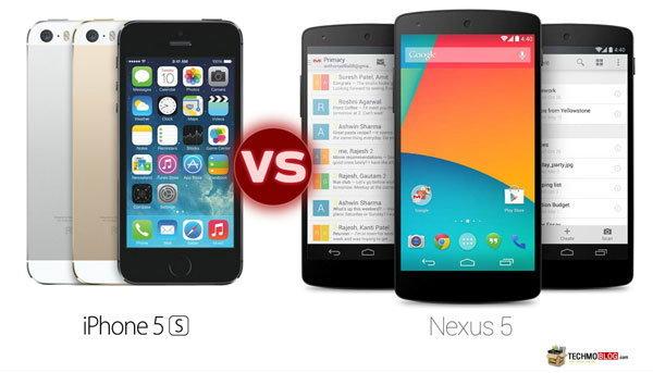 เปรียบเทียบ สเปค iPhone 5S vs Nexus 5 รุ่นใดเหนือกว่า ?