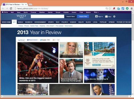 Yahoo ประกาศผล 10 อันดับคำค้นยอดนิยม ประจำปี 2013