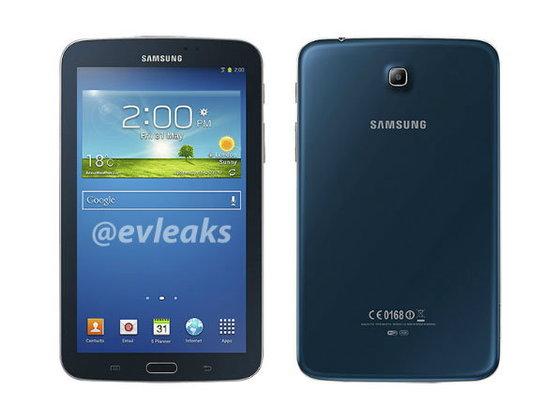 ภาพหลุด Samsung Galaxy Tab 3 7.0 สีน้ำเงิน