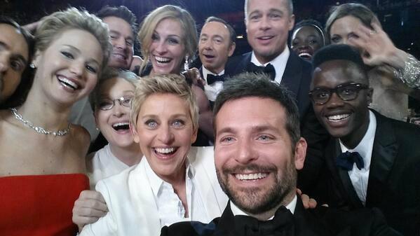 ภาพเซลฟี่ของ 'Ellen DeGeneres' ทำทวิตเตอร์ล่ม