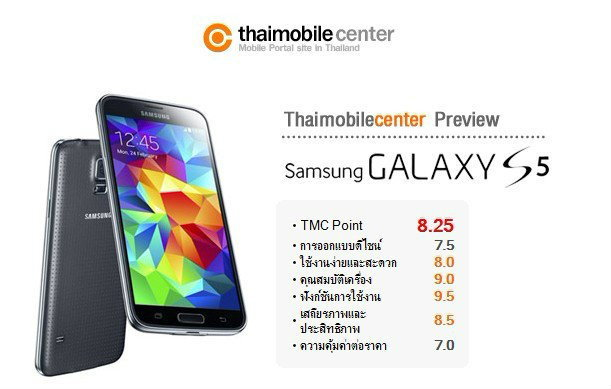 ครั้งแรกกับการพรีวิว (Preview) Samsung Galaxy S5