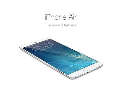 iPhone 6 ใช้ชื่อใหม่เป็น iPhone Air และจะบางลงอีก