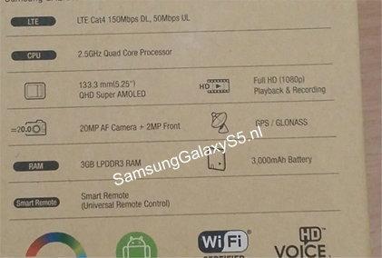 เมื่อ...ของ Samsung Galaxy S5 หลุดมาจากกล่อง
