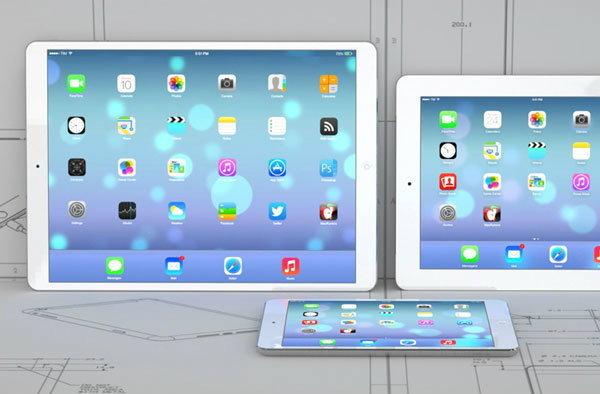 หลุดภาพ mock up iPad Pro หน้าจอ 12.9 นิ้ว