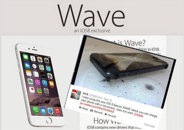 แชร์ว่อนเน็ต หลังอัพเดท iOS 8 สามารถชาร์จแบตฯ ด้วยไมโครเวฟได้