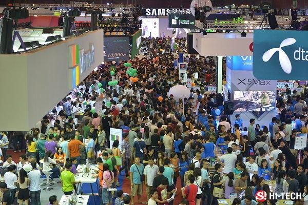 ยอดสรุปงาน Thailand Mobile Expo 2015 เมื่อวันที่ 12-15 กุมภาพันธ์