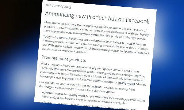 สุดแจ๋ม! สำหรับพ่อค้า แม่ค้าออนไลน์ Facebook เพิ่มโฆษณาแบบใหม่