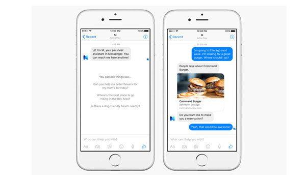 Facebook เปิตตัว M เกิดมาเพื่อช่วยคุณใน Facebook Messenger