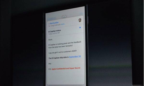 Apple ซุ้มเงียบปล่อย Mac OS El Capitan ให้อัพเกรด 30 กันยายนนี้