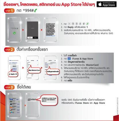 ทรูมูฟ เอช เปิดตัวนวัตกรรมล่าสุด iPhone และ iPad ซื้อสินค้าบน App Store และ iTunes Store