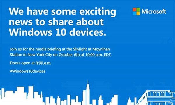 Microsoft เตรียมปล่อย Lumia 950, Lumia 950XL และ Surface Pro 4 ในวันที่ 6 ตุลาคมนี้