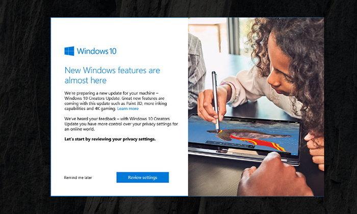 Microsoft เริ่มปล่อย Windows 10 Creator Update แล้ววันนี้