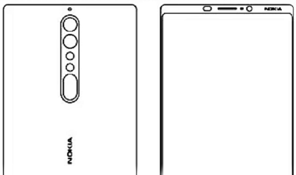 หลุด! ภาพร่างตัวเครื่อง Nokia 8 และ Nokia 9 หน้าจอไร้ขอบ