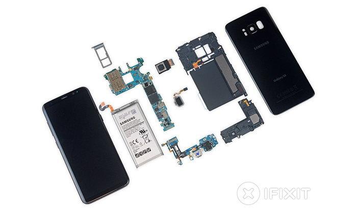 Ifixit แกะ Samsung Galaxy S8 และ S8 + ซ่อมง่ายกว่าหรือไม่ต้องดู