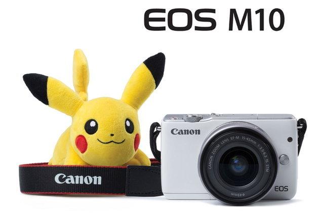 """บ็อกซ์เซ็ตใหม่มาแล้ว!! แคนนอน EOS M10 พร้อมที่รัดสายคล้องคอ """"ปิกาจู"""""""