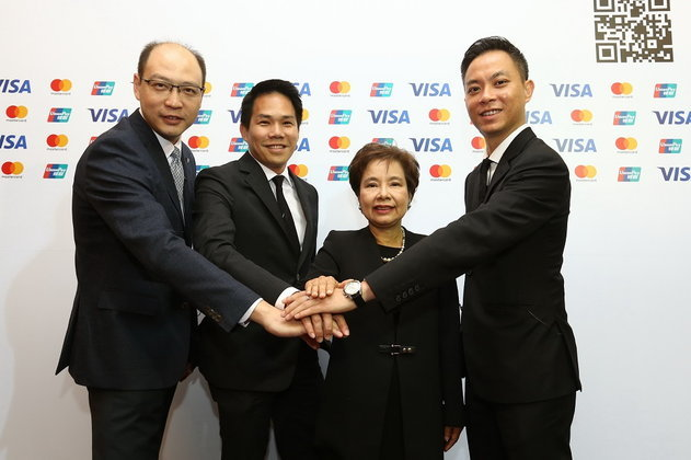 มาสเตอร์การ์ด , ยูเนี่ยนเพย์ และวีซ่า ผนึกกำลังเปิดตัว QR Code มาตรฐาน ครั้งแรกในไทย