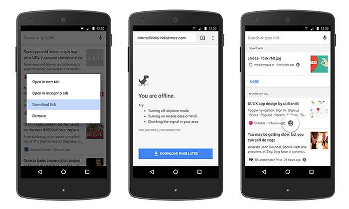 Chrome เพิ่มฟีเจอร์ดาวน์โหลดหน้าเว็บไว้ดูแบบออฟไลน์บน Android ให้ใช้งานง่ายขึ้น