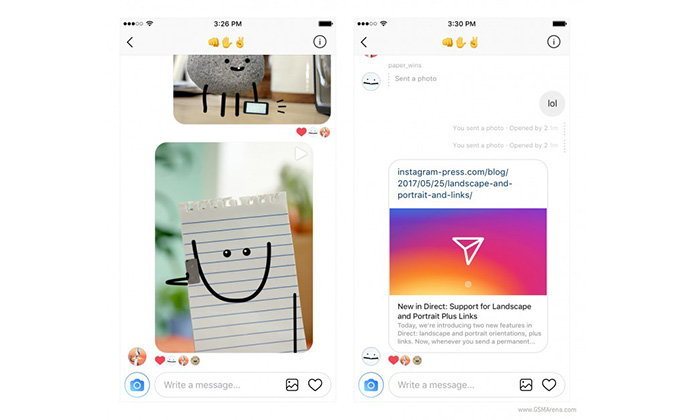 Instagram เพิ่มลูกเล่นทั้ง ภาพแบบ Landscape, Portrait และโชว์ Link Preview ใน Direct Message ได้แล้ว