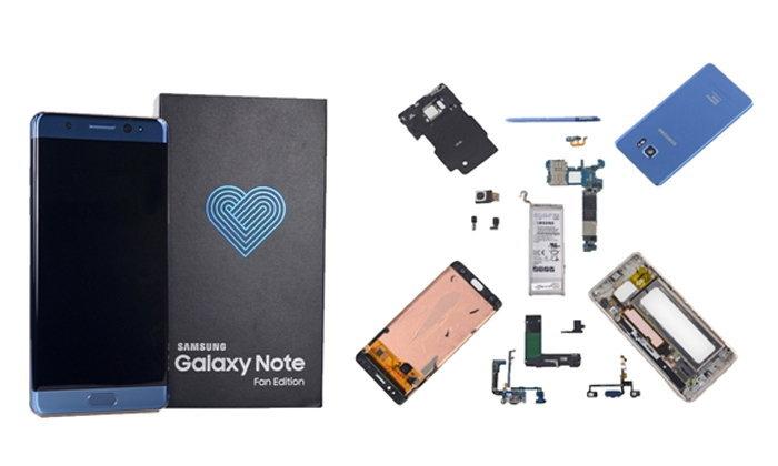 แกะดูไส้ใน Samsung Galaxy Note Fan Edition การกลับมาของมือถือตระกูล Note รุ่นล่าสุด มีอะไรซ่อนเอาไว้