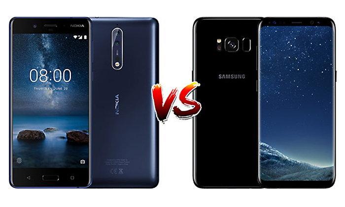 เปรียบเทียบ Nokia 8 และ Samsung Galaxy S8 เรือธงรุ่นใหม่ล่าสุดจากสองค่ายใหญ่