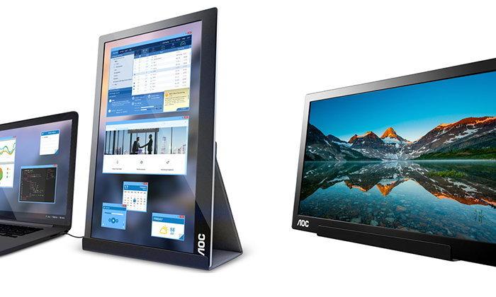 AOC เปิดตัวจอเสริมสำหรับ Notebook ใช้ง่ายแค่เสียบ USB-C เท่านั้น