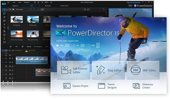 โปรแกรมตัดต่อวิดีโอของแท้แจกฟรี รีบด่วน PowerDirector 15 Deluxe