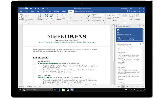 Microsoft Word เชื่อมต่อกับ LinkedIn ช่วยคุณสร้าง Resume ได้ง่ายขึ้น