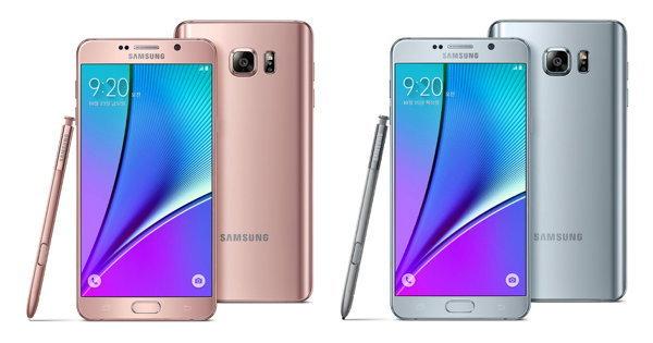 Samsung เพิ่มสีใหม่กับ Galaxy Note 5 ในเกาหลีด้วยสีเงิน และ ชมพูสุดฟรุ้งฟริ้ง