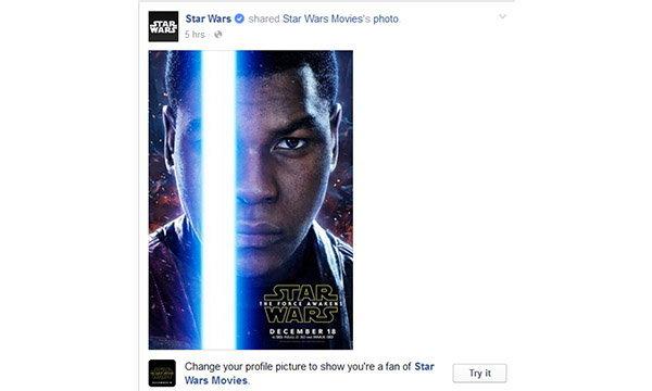 Facebook ชวนคุณมาทำคู่กับดาบแสง Light Saber จากหนัง Star Wars