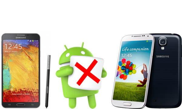 จบข่าว Samsung เผย S4 และ Note 3 ไม่ได้ไปต่อใน Android Marshmallow นะ