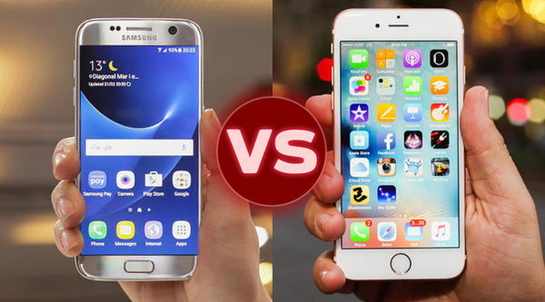 เปรียบเทียบสเปค Samsung Galaxy S7 vs iPhone 6S มือถือเรือธงต่างสายพันธุ์