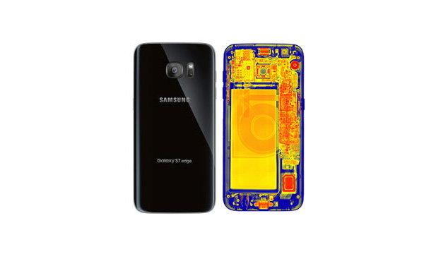 เห็นกันหมดเปลือกเมื่อ Samsung Galaxy S7 edge ถูกถ่ายภาพ X-ray ด้านหลังเครื่อง