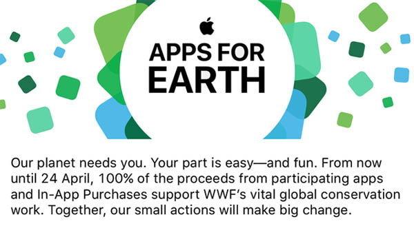 Apple เผย Apps For Earth ฉลองวันของโลก 24 เมษายน