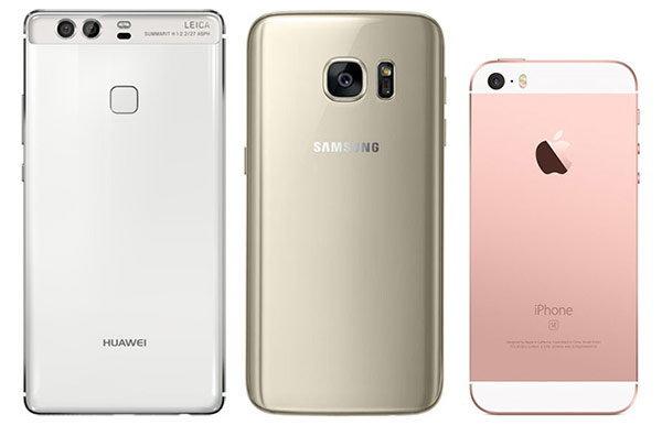 เปรียบเทียบ Huawei P9, Samsung Galaxy S7 และ iPhone SE  แต่ละรุ่นจะมีฟีเจอร์เด่นอะไรบ้าง?