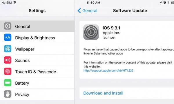 Apple ปล่อย iOS 9.3.1 เพื่อแก้ไขปัญหาบน iPhone และ iPad แล้ว