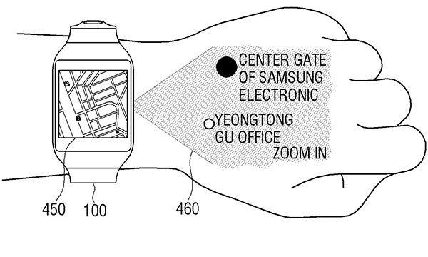Samsung เผยสิทธิบัตรสุดล้ำ เมื่อ Smart Watch แสดงข้อความบนมือคุณ