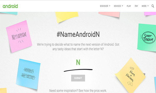Android N ชื่ออะไรดี ? Google เค้าขอให้ช่วย