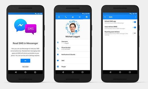 Facebook Messenger เพิ่มความสามารถแสดงข้อความ SMS ในเวอร์ชั่น Android